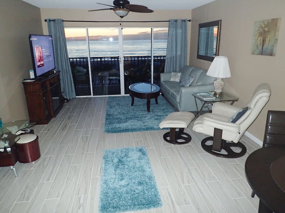 Newly remodeled downstairs with new furniture