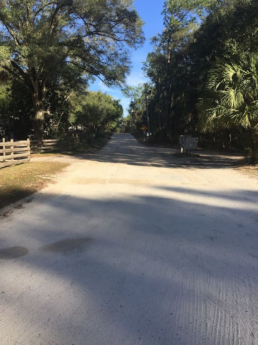 Dirt Road to House