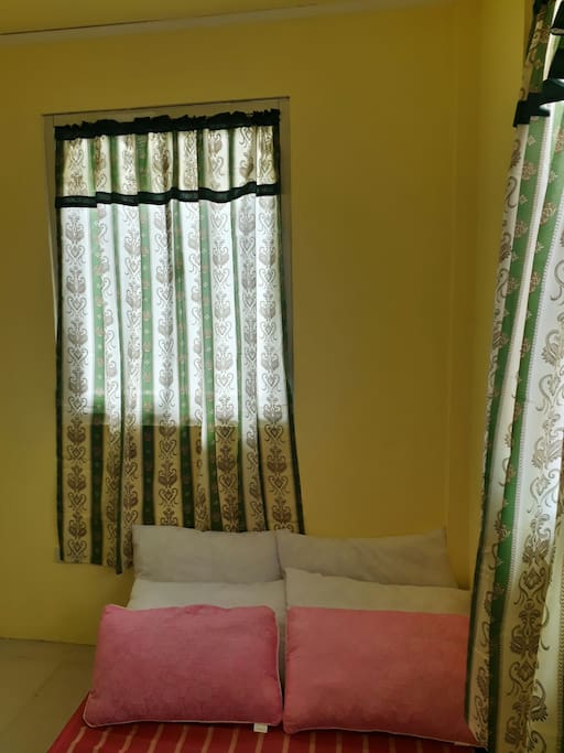 installed with new curtains