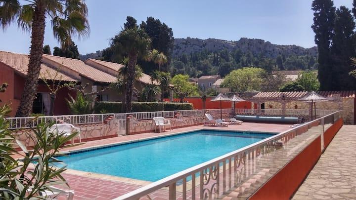 Gitelacapelle 2 chambres,  piscine, 10 mn plages..
