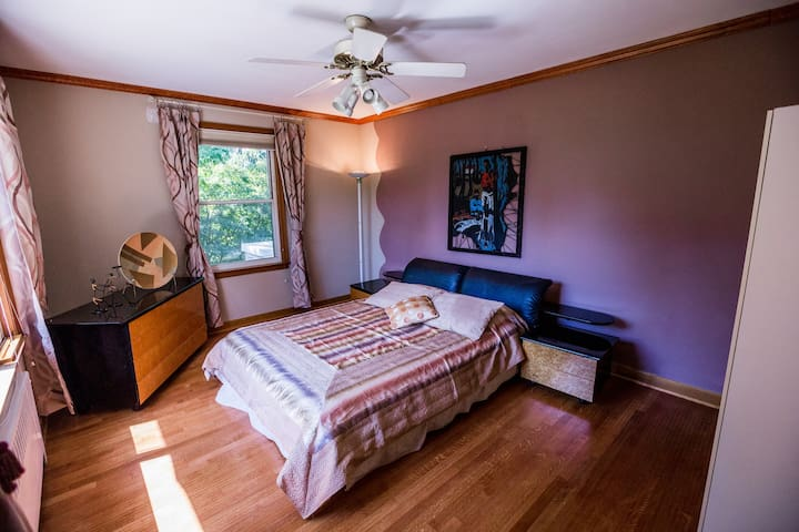 Nice private room in friendly cozy home - Old Westbury - Casa