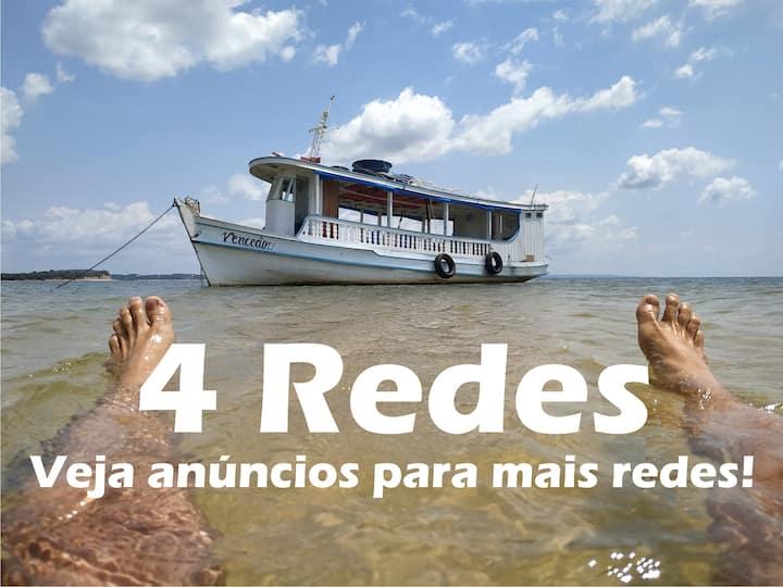 Viver Embarcado + Diária Compl + Passeio ∆ 4 Redes