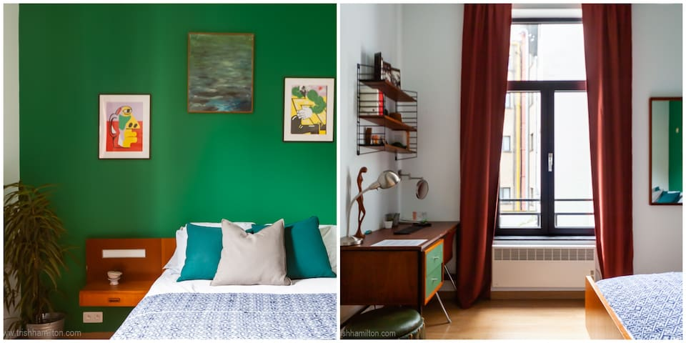 BIG Forest Green Vintage Quiet Rm 3min Grand Place