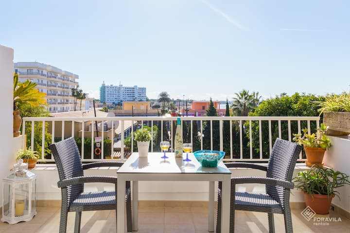 Blaublue. Apartment with communal pool in Alcúdia.