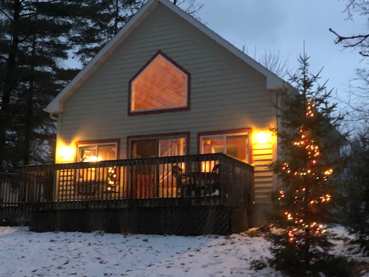 Fireside Lake Cabin Rental in New Auburn, Wi