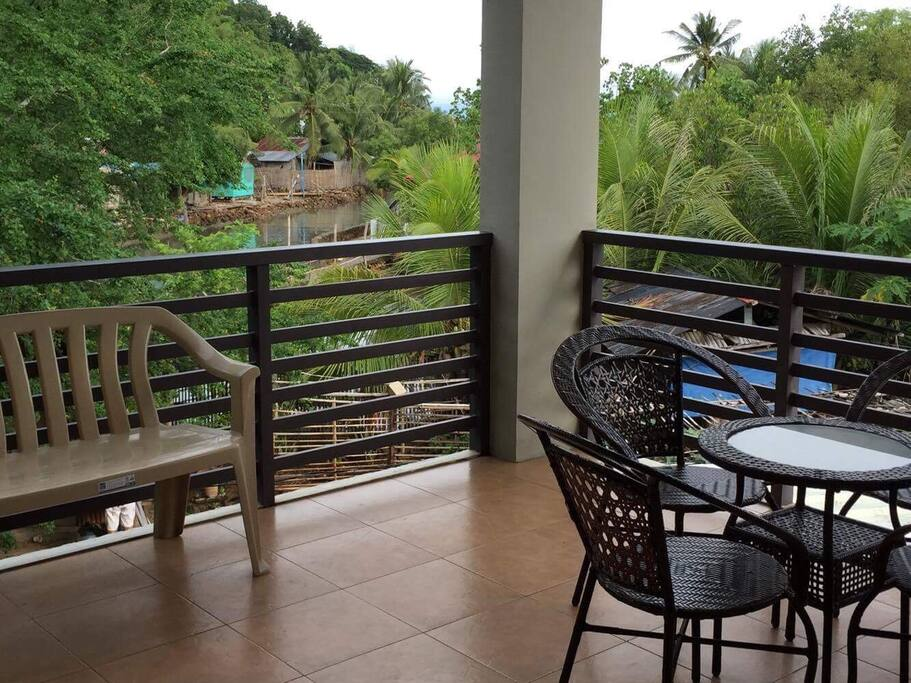 Enjoy your breakfast in this balcony.
