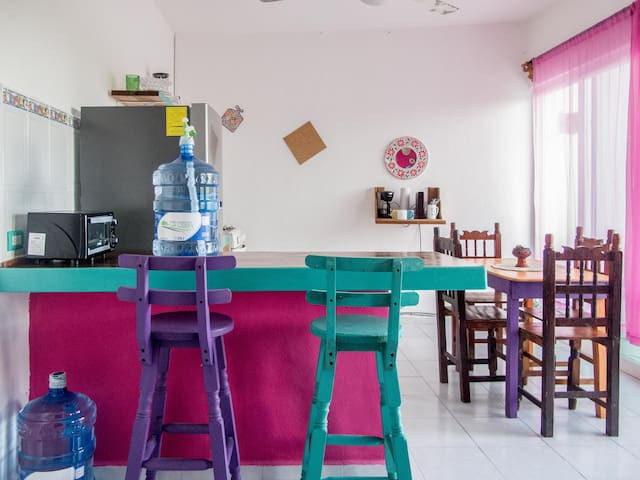1 bed room apartment in the heart of Pto. Morelos.