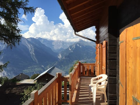 Lovely and typical Chalet,calm with wonderful view