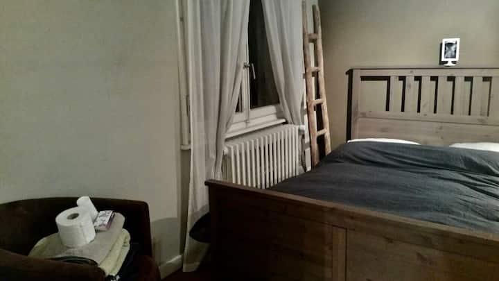 Confortable double room in Geneva