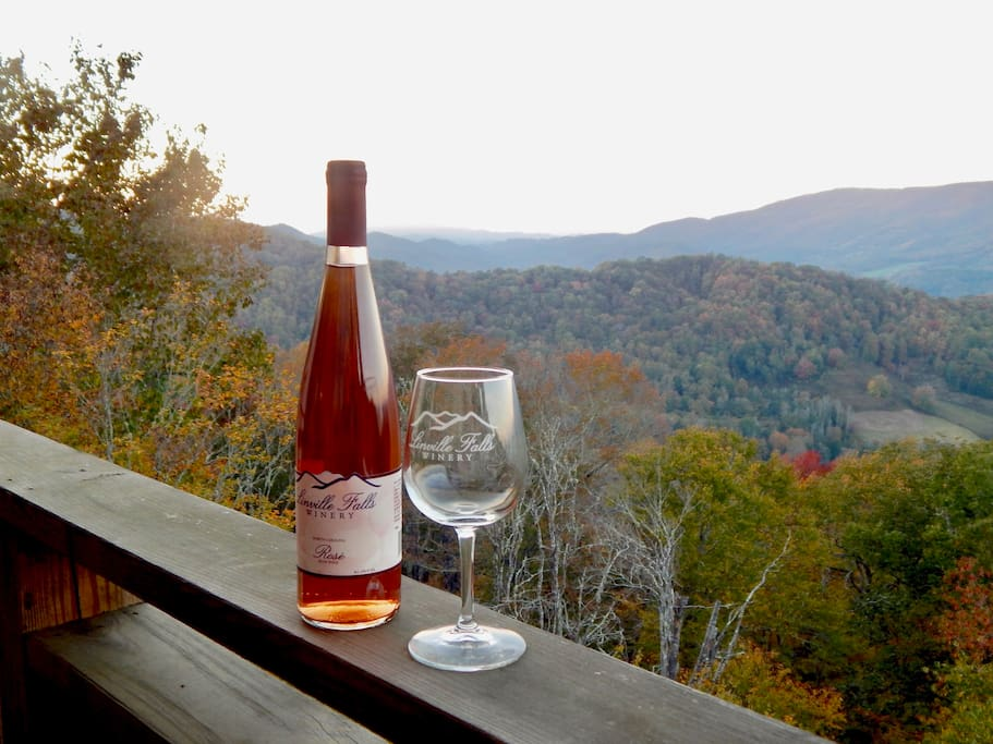 View of Beech Mountain.  Make sure to check out the local wineries!