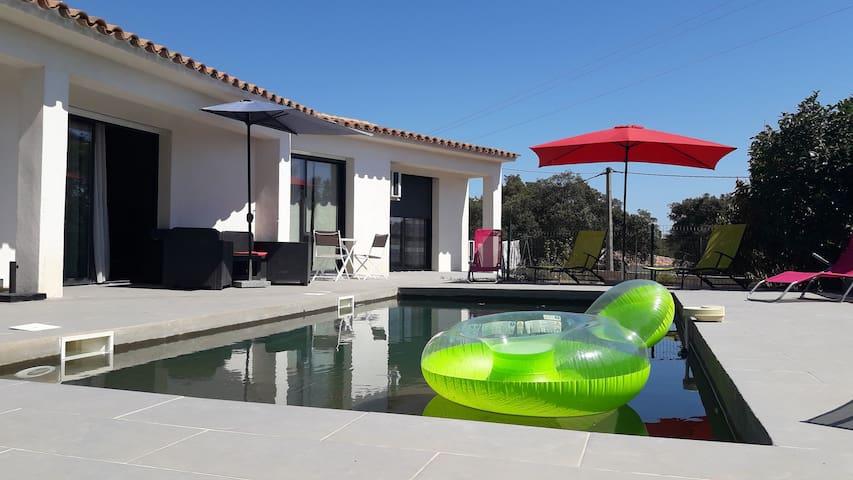 villa clim piscine proche plage - Zonza - Vila