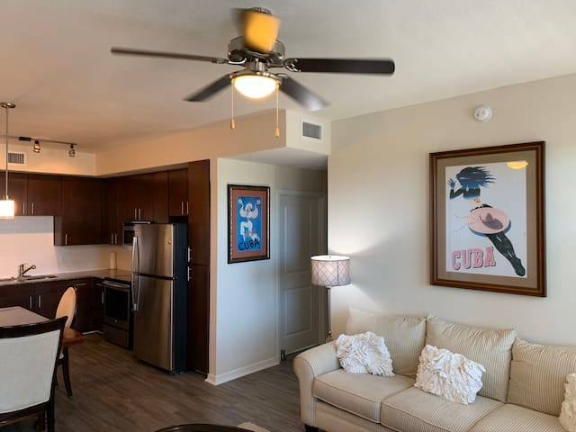 Tommy Bahama style Oasis apartment home.