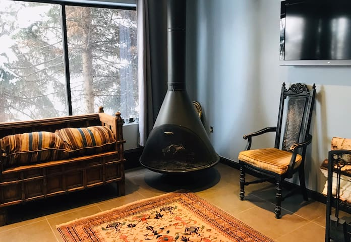 Downtown Aspen Penthouse Studio w/king sized bed.