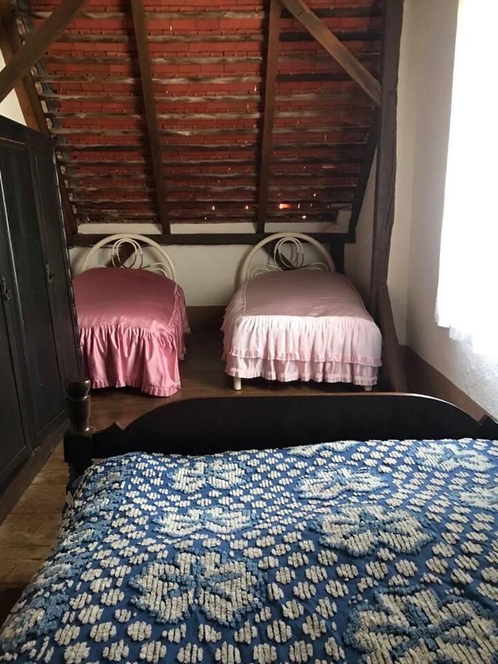 Haras Casa Sede Quarto Compartilhado 3 camas