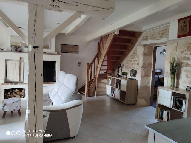 Chambre privée dans maison Charentaise