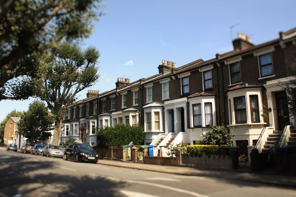 Quiet Victorian street