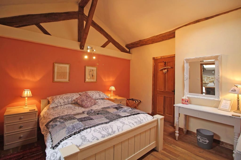 Pink Room, large comfortable bed