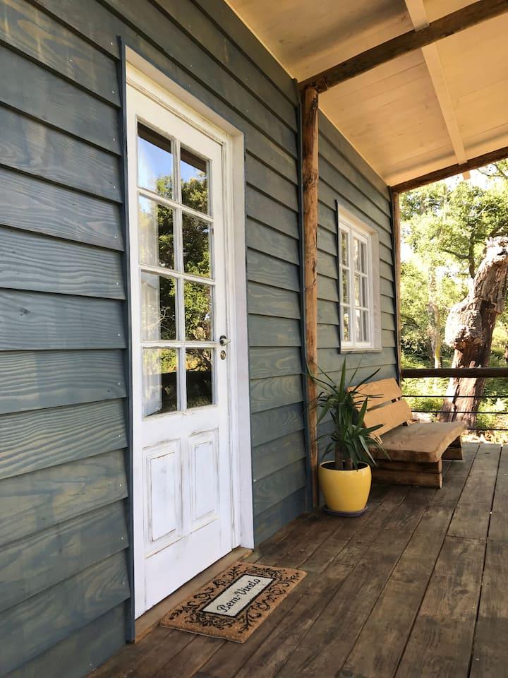 Unique eco-friendly cabin surrounded by cork oaks