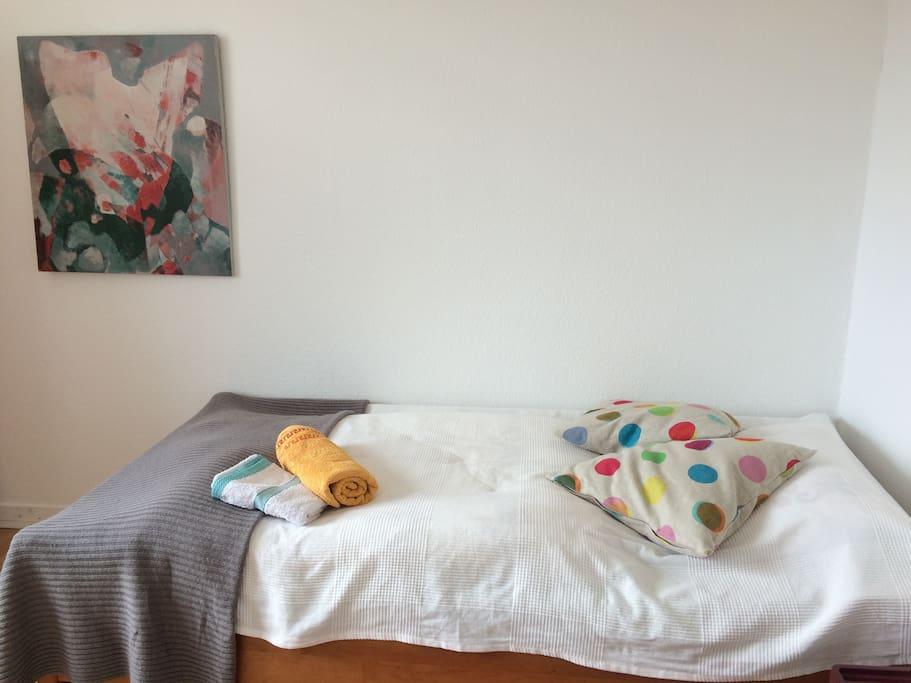 Zimmer eins Einzelbett