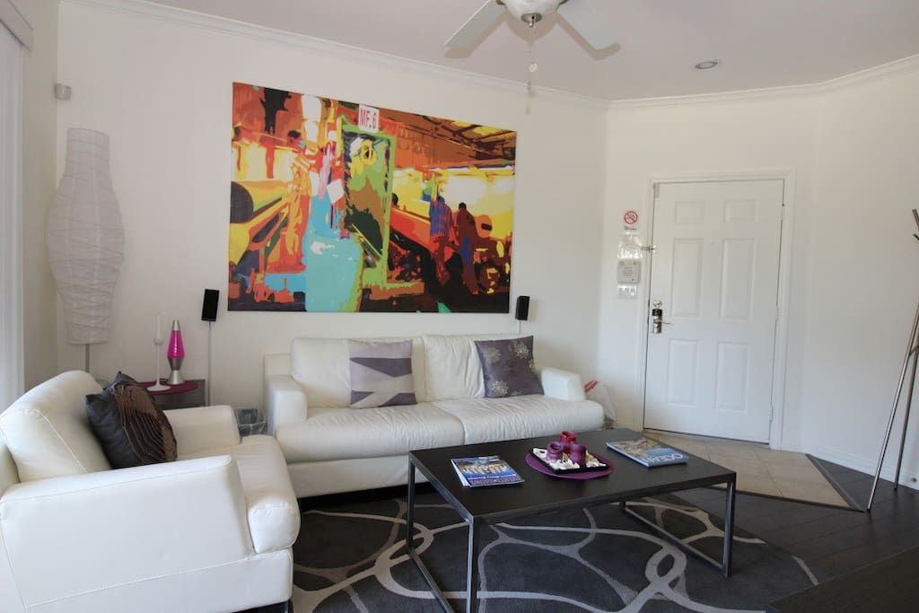 Decorative, Spacious living area  with alarm system