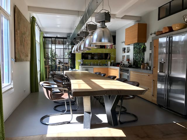 Magnificent loft, 15 minutes from Amsterdam Center