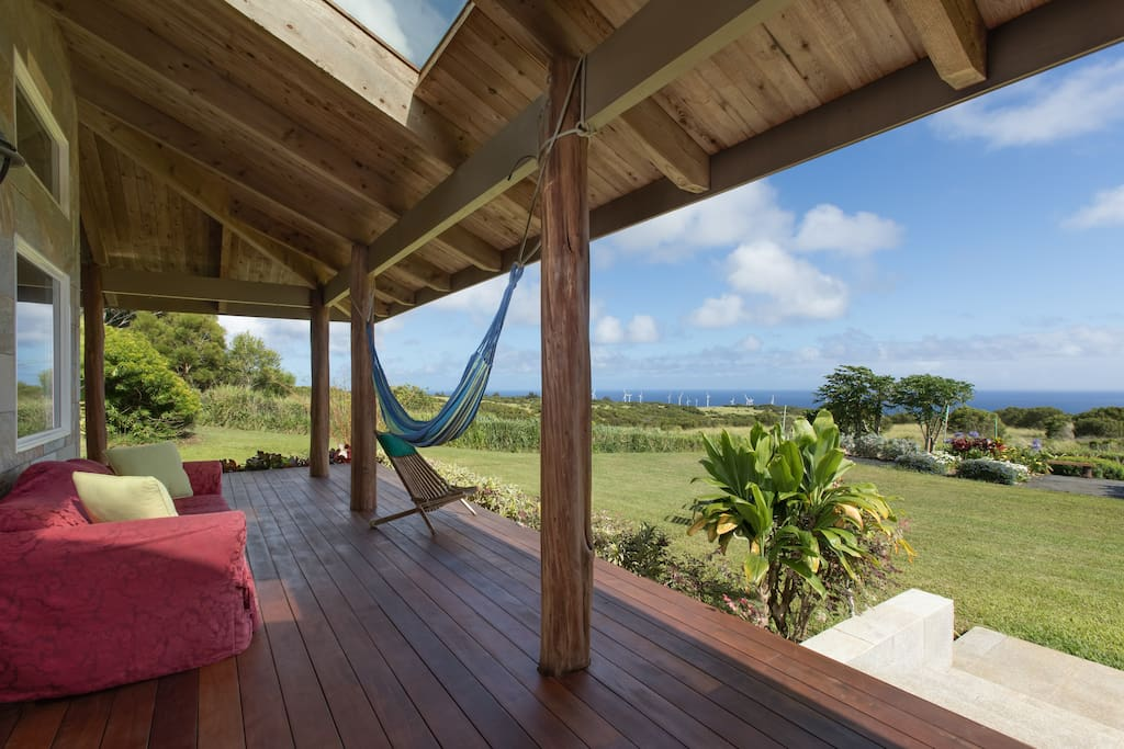 Covered Lanai is the perfect for relaxation