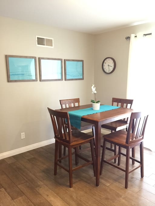 Clean dining space