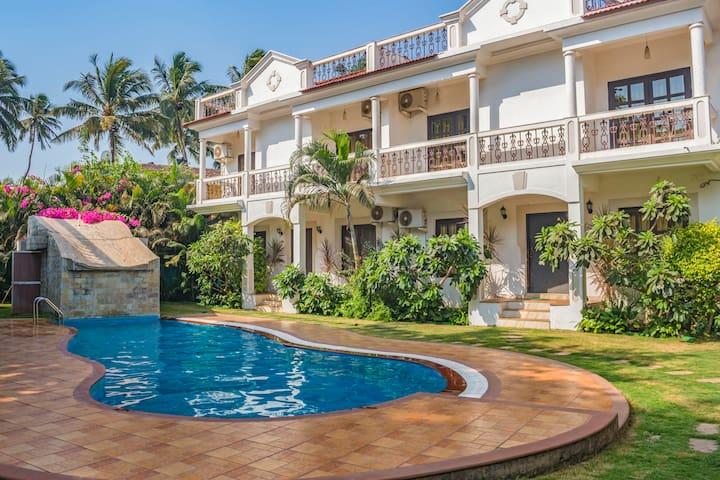 Modish 3-bedroom villa in Saligao for nine/73596