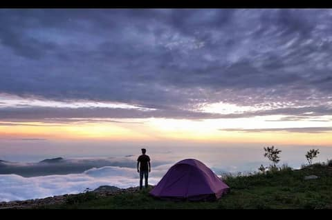 Live on a Mountain Top l Camping under the Stars