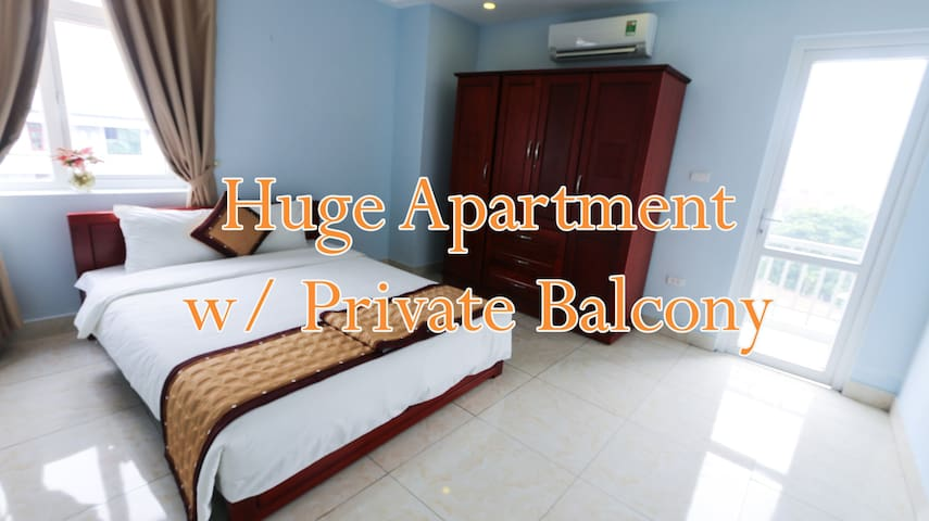 #Huge Apartment with Private Balcony in Ba Dinh