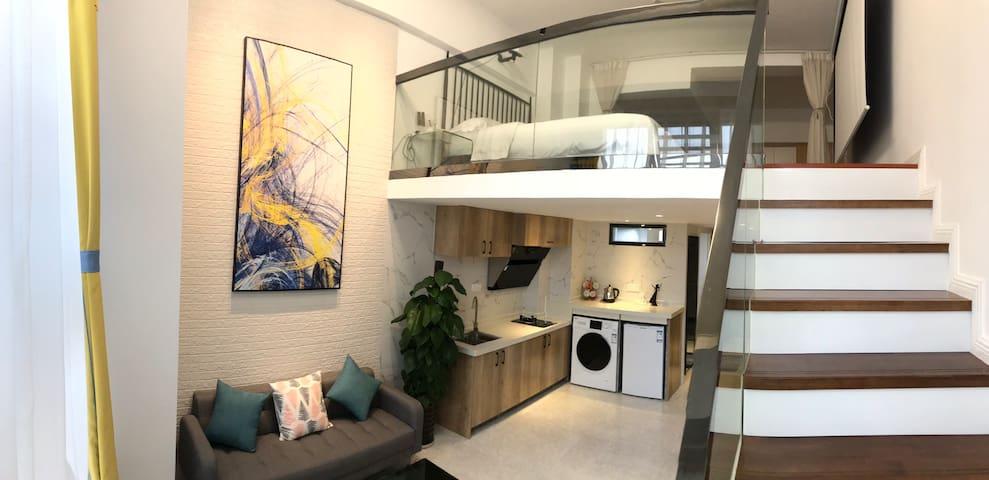 东盟/琅东站/万象城/loft投影低奢复式一居室