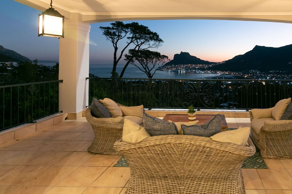 Just one of the verandahs with magnificient views.