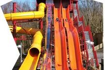 Try the solar powered water slide at Greenwood Forest Park!