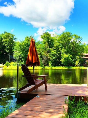 Lakefront Pocono Lodge-Resort Home - Lake Ariel - House