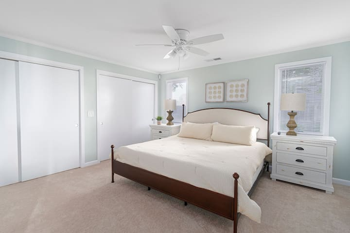 Bedroom #2, Master Bedroom with King bed and Jack and Jill bathroom.