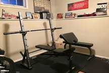 Home gym, complete with Rocky inspiration