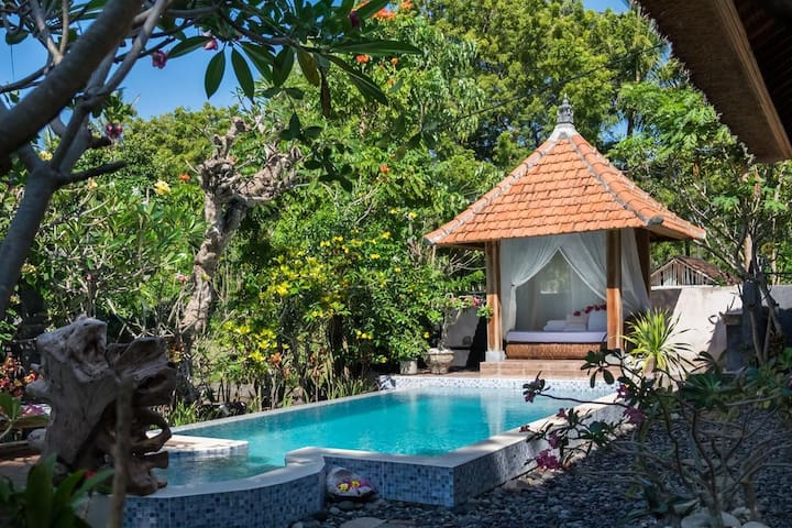 2 BD private pool villa 3min from the beach
