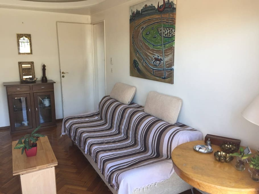 Comfortable couch to rest or watch TV. Access to alleyway, bedrooms, toilet and study room