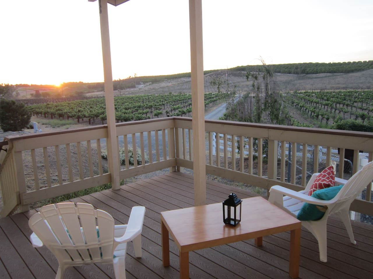 View of the evening sunset from the master suite deck