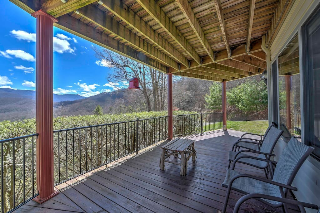 Enjoy incredible views from the wraparound deck.