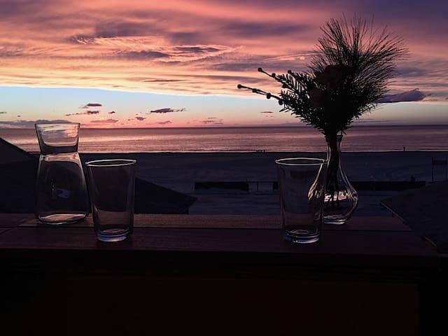 Coucher de soleil vue du terrasse