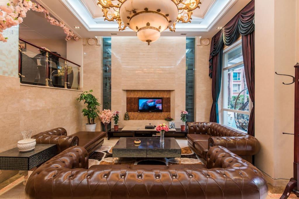 古典客厅,轻奢的质感。冬暖d夏凉