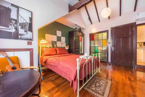 法式复古风卧室,床品超级舒服