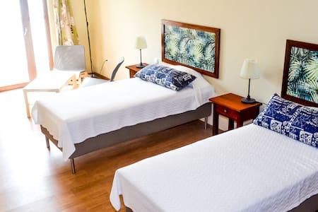 Twin room with verandah and sea view