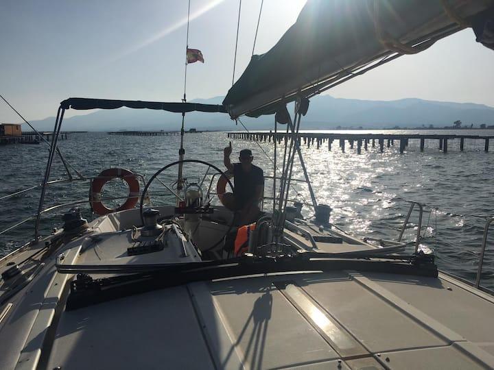 Alojamiento en barco velero.El mar calma la mente.
