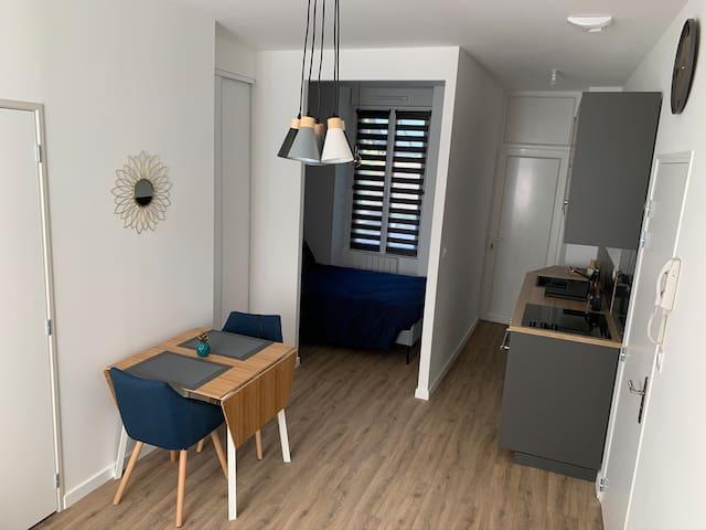 Studio neuf centre-ville - Bleu