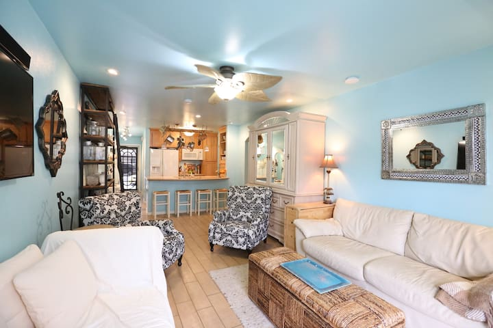 Beachfront condo in a gated community
