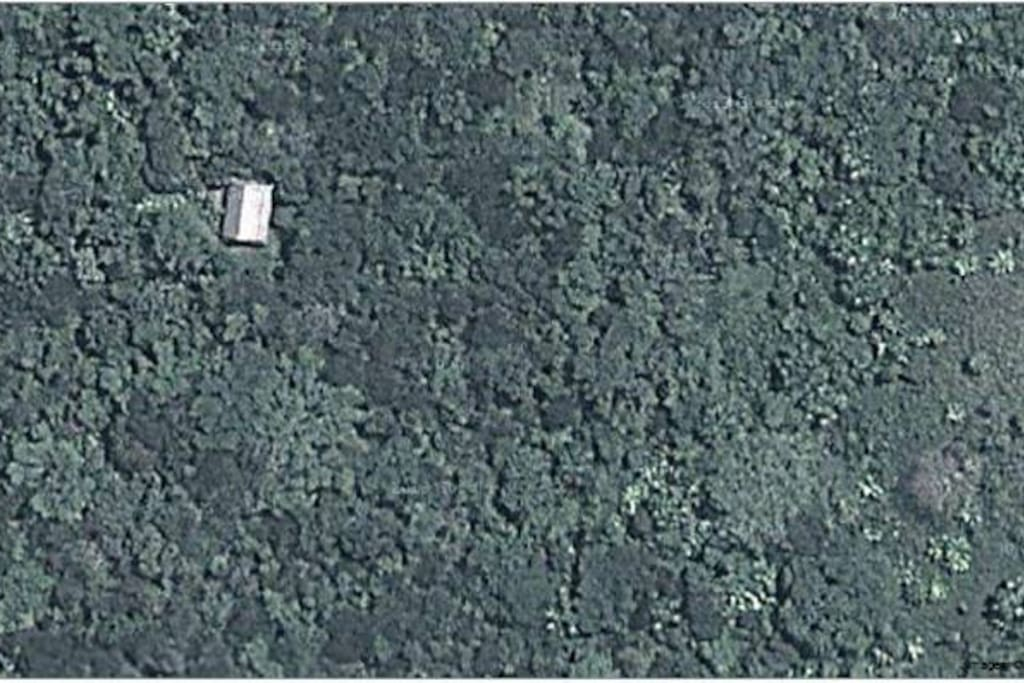 satellite picture of the house and the private jungle reserve