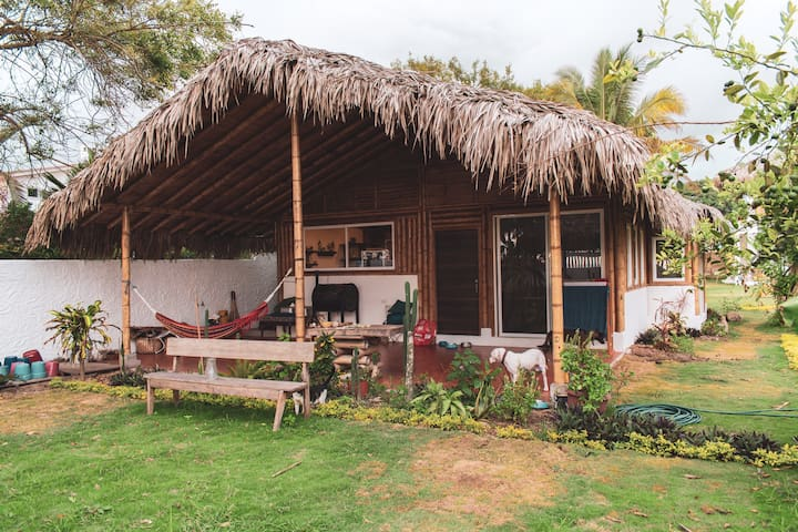 HOUSE RIGHT ON THE BEACH IN OLON WITH GARDEN!