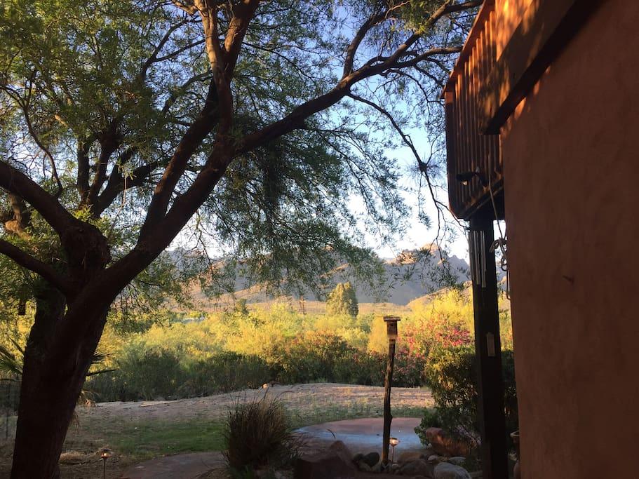"View from the ""front door."""